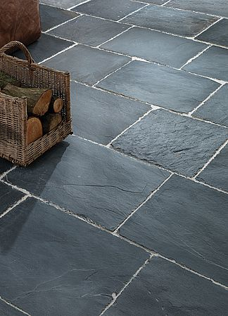 Rustic Black Slate Tiles External Stone Floor Tiles